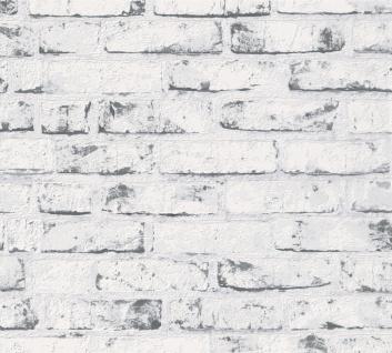 Stein Kacheln Tapete Profhome 907837-GU Vliestapete glatt in Steinoptik matt grau beige 5, 33 m2 - Vorschau 1
