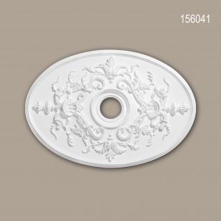 Rosette PROFHOME 156041 Zierelement Deckenelement Neo-Empire-Stil weiß 78, 5 x 54, 4 cm