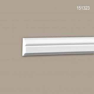 Wand- und Friesleiste PROFHOME 151323 Stuckleiste Zierleiste Wandleiste Neo-Klassizismus-Stil weiß 2 m