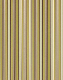 Streifen Tapete EDEM 825-28 hochwertige geprägte Tapete brilliante farben elfenbein schoko-braun grün grau 70 cm