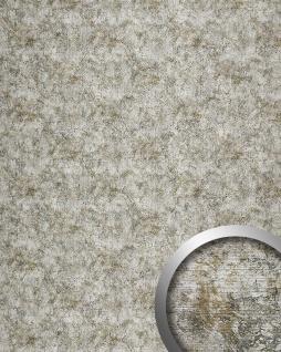 Wandplatte selbstklebend Leder Dekor WallFace 17269 VINTAGE Wandpaneel Luxus Vintage Look Design silber grau | 2, 60 qm