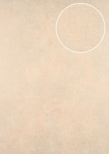 Uni Tapete ATLAS CLA-598-4 Vliestapete glatt im Used Look schimmernd beige perl-weiß 5, 33 m2