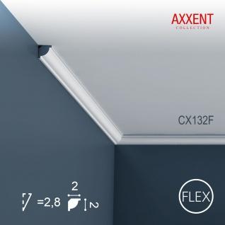 Stuckleiste Zierleiste Profilleiste Orac Decor CX132F AXXENT Flexible Stuck Profil Eckleiste Decken Leiste | 2 Meter