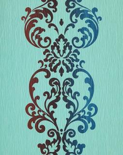 Barock Tapete EDEM 178-26 Tapete Modern Art Ornamente hell türkis blau braun perlmutt