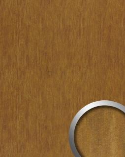 Wandplatte Wandverkleidung selbstklebend WallFace 17848 OXY TERRA Wandpaneel Leder Stahlblech Look rost-braun 2, 60 qm