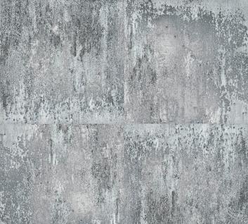 Retro Tapete Profhome 361183-GU Vliestapete glatt mit abstraktem Muster matt grau schwarz silber 5, 33 m2