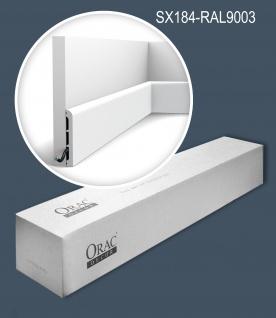 Orac Decor SX184-RAL9003-box 1 Karton SET mit 18 Sockelleisten Wandleisten bereits lackiert 36 m