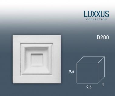 Zierelement Stuck Orac Decor D200 LUXXUS Türumrandung Stuck Eckplatte Decken Wand Dekor Relief Profil klassisch 9 x 9 cm