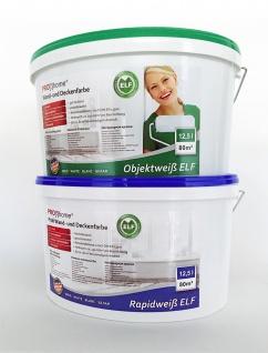 Wandfarbe PROFHOME Objektweiß Innenfarbe Farbe hochergiebig gut deckend matt weiß ELF | 12, 5 Liter Eimer für max. 85 qm - Vorschau 5