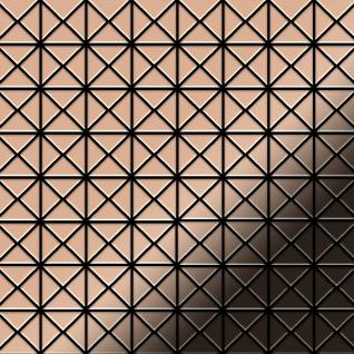 Mosaik Fliese massiv Metall Kupfer gewalzt in kupfer 1, 6mm stark ALLOY Deco-CM 1 m2