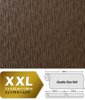 Geprägte Tapete Vliestapete EDEM 940-35 XXL Matrix-Mosaik Perlmuttglanz hochwertige 3D geprägte Struktur Braun kaffeebraun | 10, 65 qm