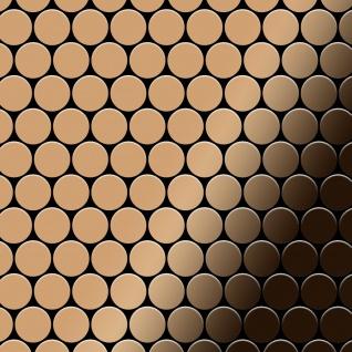 Mosaik Fliese massiv Metall Titan hochglänzend in kupfer 1, 6mm stark ALLOY Dollar-Ti-AM 0, 88 m2