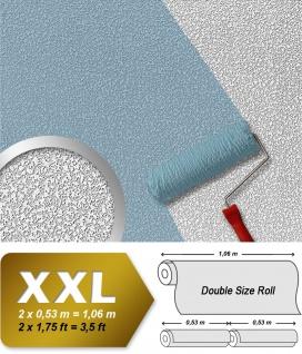 Vliestapete zum Überstreichen EDEM 80304BR60 XXL Dekor Tapete streichbar rauhfaser maler weiß putz-optik 26, 50 qm