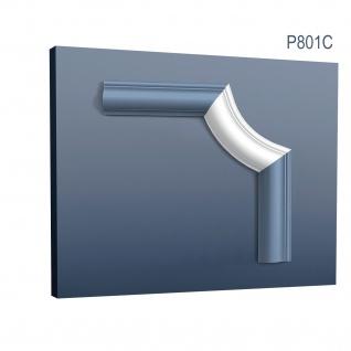 Wandleiste Stuck Orac Decor P801C LUXXUS Eckelement Zierleiste für Friesleiste Rahmen Spiegel Profil Wand Dekor Element