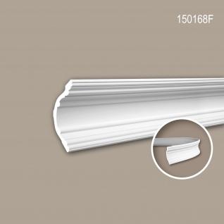 Eckleiste PROFHOME 150168F Zierleiste Flexible Leiste Stuckleiste Neo-Klassizismus-Stil weiß 2 m