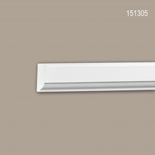 Wand- und Friesleiste PROFHOME 151305 Stuckleiste Zierleiste Wandleiste Neo-Klassizismus-Stil weiß 2 m