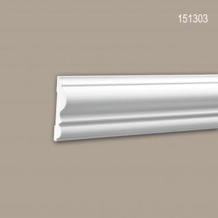 Wand- und Friesleiste PROFHOME 151303 Stuckleiste Zierleiste Wandleiste Neo-Klassizismus-Stil weiß 2 m