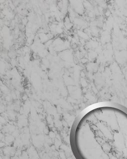 Wandverkleidung Marmor Optik WallFace 19338 MARBLE WHITE Dekorpaneel glatt in Stein Optik matt selbstklebend weiß grau-weiß 2, 6 m2