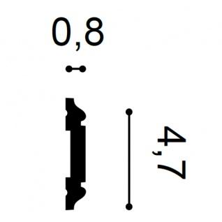 Wandleiste Zierleiste von Orac Decor PX145 AXXENT Profilleiste Friesleiste Stuckprofil Wand Rahmen Dekor Element 2 Meter - Vorschau 2