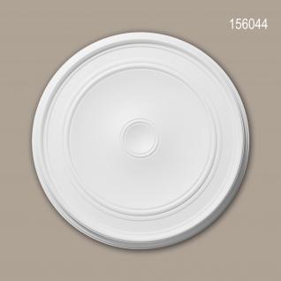 Rosette PROFHOME 156044 Zierelement Deckenelement Zeitloses Klassisches Design weiß Ø 62 cm
