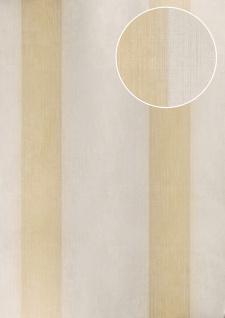 Streifen Tapete Atlas ATT-6805-1 Vliestapete strukturiert in Textiloptik schimmernd weiß creme-weiß beige 7, 035 m2