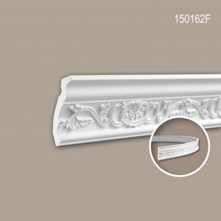 Eckleiste PROFHOME 150162F Zierleiste Flexible Leiste Stuckleiste Neo-Renaissance-Stil weiß 2 m