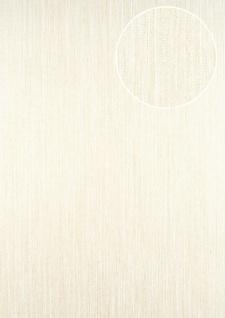 Streifen Tapete ATLAS CLA-596-5 Vliestapete glatt mit grafischem Muster glitzernd creme perl-gold weiß beige-grau 5, 33 m2