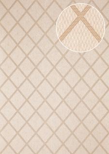 Grafik Tapete Atlas PRI-560-4 Vliestapete glatt mit Rauten Muster schimmernd oliv oliv-grau kiesel-grau perl-beige 5, 33 m2
