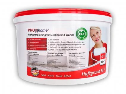 Haftgrund PROFHOME Decken Wand-Grundierung Tapetengrund für Renoviervlies Malervlies Tapeten weiß ELF 12, 5 Ltr für 60 qm