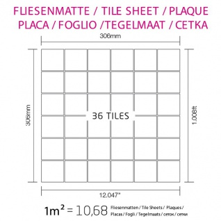Mosaik Fliese massiv Metall Edelstahl gebürstet in grau 1, 6mm stark ALLOY Cinquanta-S-S-B 0, 94 m2 - Vorschau 5