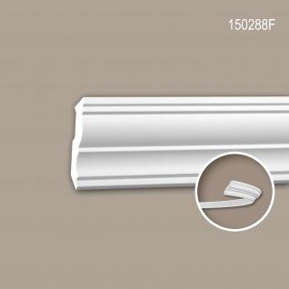 Eckleiste PROFHOME 150288F Stuckleiste Flexible Leiste Zierleiste Neo-Klassizismus-Stil weiß 2 m
