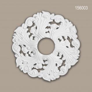 Rosette PROFHOME 156003 Deckenelement Zierelement Rokoko Barock Stil weiß Ø 52 cm