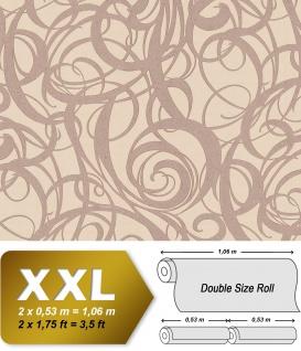 Grafik Tapete EDEM 81136BR24 heißgeprägte Vliestapete mit abstraktem Muster glitzernd beige hell-elfenbein perl-beige 10, 65 m2