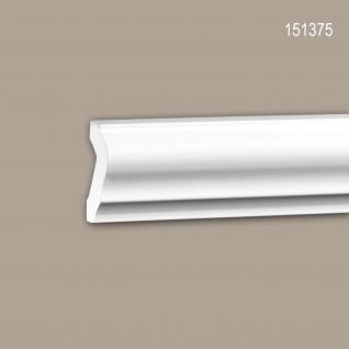Wand- und Friesleiste PROFHOME 151375 Stuckleiste Zierleiste Friesleiste Neo-Klassizismus-Stil weiß 2 m