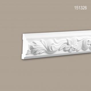 Wand- und Friesleiste PROFHOME 151326 Stuckleiste Zierleiste Wandleiste Rokoko Barock Stil weiß 2 m