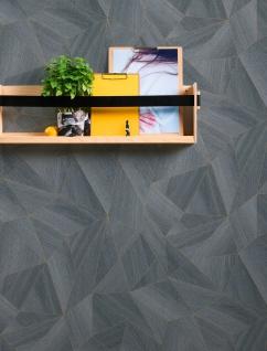 Grafik Tapete Profhome 361333-GU Vliestapete glatt mit grafischem Muster matt grau schwarz 5, 33 m2 - Vorschau 5