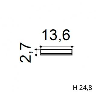 Türumrandung Stuck Orac Decor D320 LUXXUS Sockel Zierelement Profil Wand Dekor Element robust und stoßfest | 25 cm hoch - Vorschau 2
