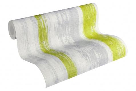 Stein Kacheln Tapete Profhome 944251-GU Vliestapete glatt in Steinoptik matt grau grün gelb 5, 33 m2 - Vorschau 2