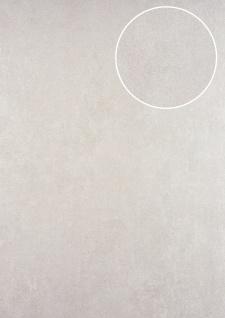 Uni Tapete ATLAS HER-5141-8 Vliestapete strukturiert mit Struktur schimmernd silber perl-hell-grau perl-weiß 7, 035 m2