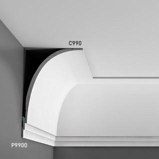 Wandleiste Stuck Orac Decor P9900 LUXXUS Stuck Leiste Friesleiste Rahmen Dekor Profil Zierleiste stoßfest | 2 Meter - Vorschau 5