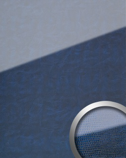 Wandpaneel Glas-Optik WallFace 16984 LEGUAN Dekor Wandverkleidung abriebfest selbstklebend dunkel blau 2, 60 qm