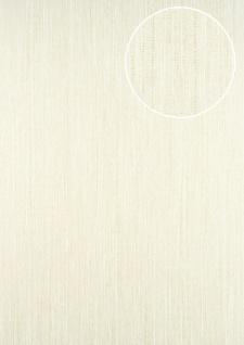 Streifen Tapete ATLAS CLA-596-3 Vliestapete glatt mit grafischem Muster glitzernd creme perl-weiß 5, 33 m2