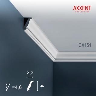 Stuckleiste Zierleiste Profilleiste Orac Decor CX151 AXXENT Kantenleiste Stuck Eckleiste Wand Decken Leiste 2 Meter