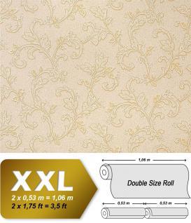 Blumen Tapete Vliestapete EDEM 927-31 Luxus Präge Vlies-Tapete kunst fresco look creme perlmutt-weiß gold 10, 65 qm