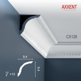 Zierleiste Profilleiste Orac Decor CX128 AXXENT Stuckleiste Stuck Profil Eckleiste Wand Leiste Decken Leiste 2 Meter