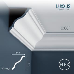 Dekor Profil Orac Decor C333F LUXXUS flexible Leiste Eckleiste Zierleiste Decken Stuck Gesims Dekorleiste | 2 Meter