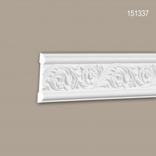 Wand- und Friesleiste PROFHOME 151337 Stuckleiste Zierleiste Wandleiste Rokoko Barock Stil weiß 2 m
