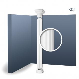 Vollsäule Komplett Set Orac Decor Luxxus KD5 Relief Stucksäule antike Form klassisch leicht stabil weiß | 2, 42 Meter
