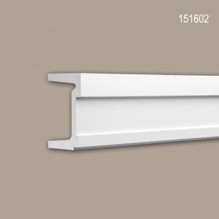 Wand- und Friesleiste PROFHOME 151602 Stuckleiste Zierleiste Friesleiste Modernes Design weiß 2 m