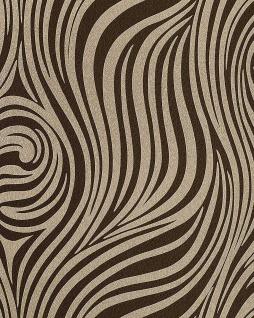 Grafik Tapete EDEM 1016-13 Zebra-Streifen Tapete Struktur-Muster hochwaschbare Oberfläche hell-braun braun